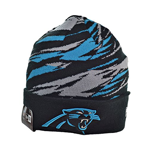 New Era Carolina Panthers NFL Men's Winter Knit Beanie Black/Blue/Grey 80365578 (Size os)