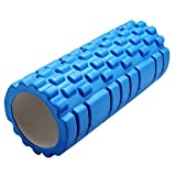PYRUS Yoga Foam Rollers High Density Trigger Point Muscle Roller Stick for Physical Therapy Pilates Body Massage-Blue