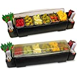 """Roll Top CHILLED Condiment Holder and Garnish Station CC0008, 6pint Capacity, 23"""" Length x 7"""" Width x 7.5"""" Height"""