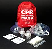Ever Ready First Aid Adult and Infant CPR Mask Combo Kit with 2 Valves, 1 Count