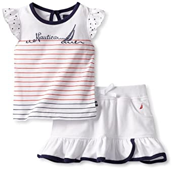 Nautica Baby-girls Infant 2 Piece Knit Set, Sail White, 24 Months