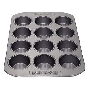 Farberware 52106 Nonstick Bakeware 12-Cup Muffin Pan by Farberware