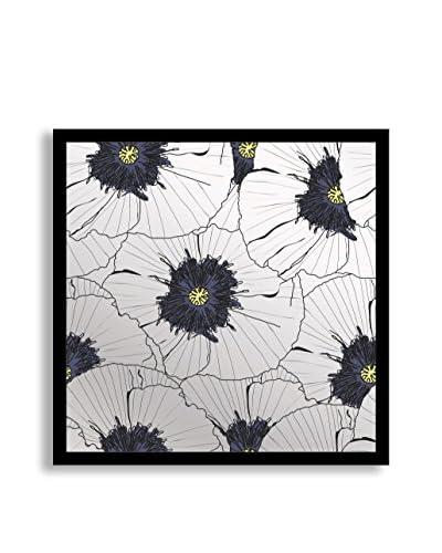 Gallery Direct Blue Flourish II Print on Mirror, Multi, 16″ x 16″