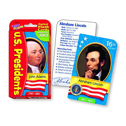 US Presidents Pocket Flash Cards - 1