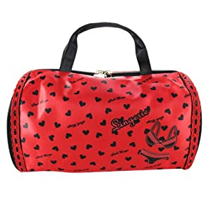 Heart Pattern Lingerie Travel Bag Red