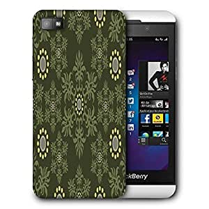 Snoogg Abstract Green Pattern Printed Protective Phone Back Case Cover For Blackberry Z10