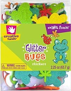 Fibre-Craft Fiber Craft Foam Glitter Stickers, 2.25-Ounce, Bugs
