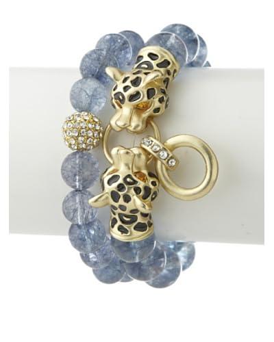 Saachi Aquamarine Leopard Bracelet Set As You See