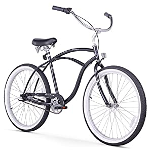 Firmstrong Urban Man Three Speed Beach Cruiser Bicycle, 26-Inch, Black