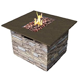Fina LP Newcastle Fire Table with Cover - 30,000 BTU, Model# 65045