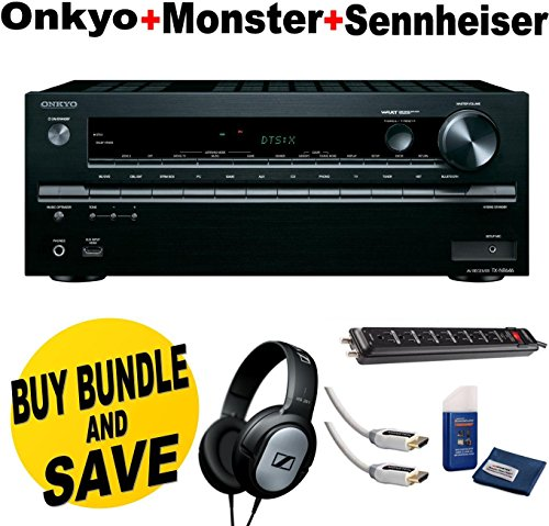 Find Discount Onkyo TX-NR646 7.2-Channel Network A/V Receiver + Sennheiser HD201 Lightweight Over-Ea...