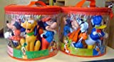 Disney Set of 5 Mickey Mouse and Pals Pool Bath Vinyl Toys NEW