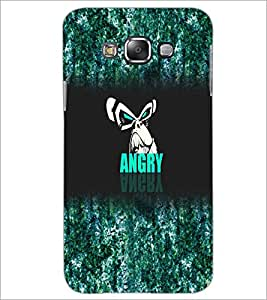PrintDhaba Angry Face D-4972 Back Case Cover for SAMSUNG GALAXY A7 (Multi-Coloured)