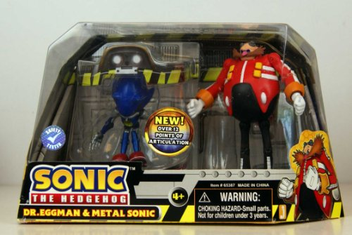 SUPER SONIC SONIC THE HEDGEHOG Figurine Pack-SONIC en métal SONIC DR EGGMAN