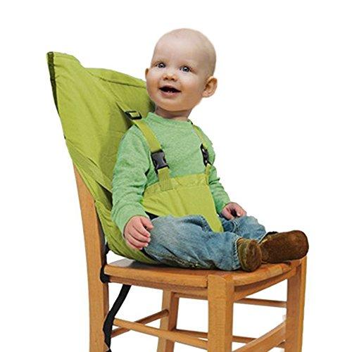 GudeHome-Sicherer-Reise-Ess-Stuhl-Klappbarer-Tragbarer-Sitz-fr-Baby-Kleinkind-grn
