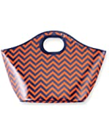 Mud Pie Game Day Cooler Tote Orange/Navy