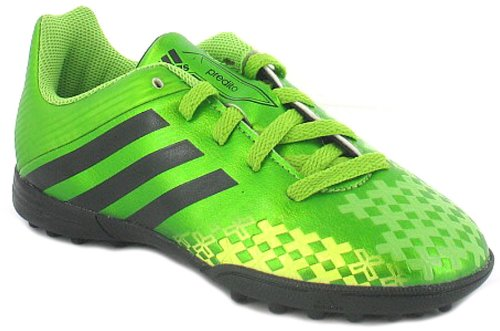 Boys/Childrens Green Adidas Lightweight Synthetic Leather Trainers - Ray Green/Elec/Black - UK 12-5