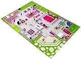 Little Helper IVI - Alfombra de juego 3D, dise�o de casa, 160 x 230 cm, multicolor / verde