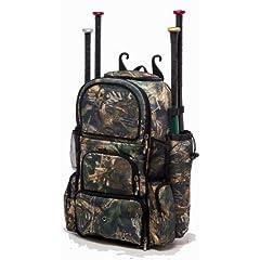 Tree Camouflage Chita II (L) Adult Softball Baseball Bat Equipment Backpack by MAXOPS