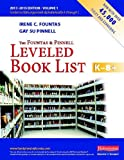 img - for The Fountas and Pinnell Leveled Book List K-8+, Volume 1 (Fountas & Pinnell Leveled Book List, K-8) book / textbook / text book