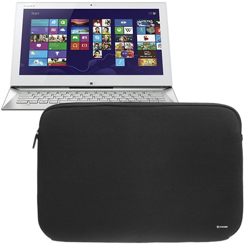 Evecase Ultraportable Zipper Sleeve Carrying Storage At all events for Sony VAIO Duo 13 New 13.3-Inch Convertible Touchscreen Ultrabook