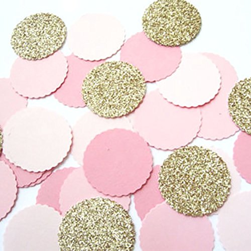 Find Cheap Custom & Fancy {1 Inch} Approx 100 Pieces of Large Round Circle Table Party Confetti M...