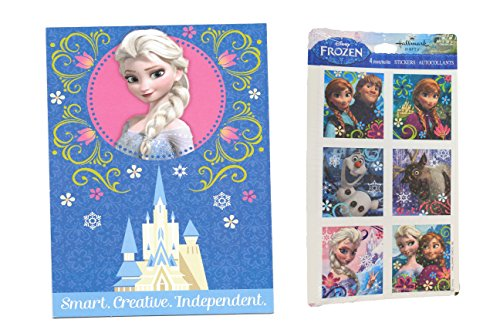 "Hallmark Frozen ""Independent"" Greeting Card w/ Frozen Sticker - 1"