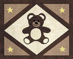 Chocolate Teddy Bear Accent Floor Rug by Sweet Jojo Designs