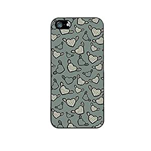 Vibhar printed case back cover for Apple iPhone 5 FlyingHearts