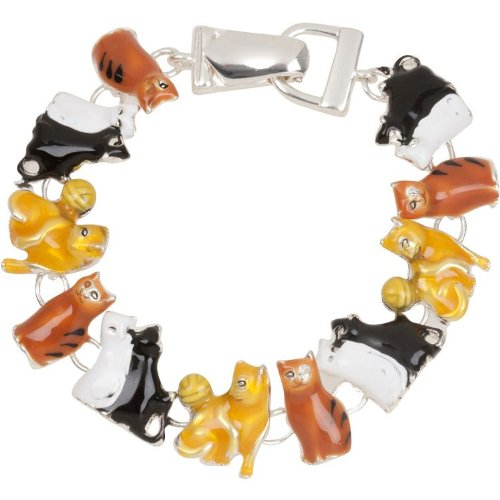 Cat Lover Theme Charm Bracelet