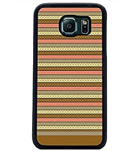 PrintDhaba Tribal pattern D-1805 Back Case Cover for SAMSUNG GALAXY S6 EDGE (Multi-Coloured)