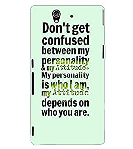 SONY XPERIA Z TEXT Back Cover by PRINTSWAG
