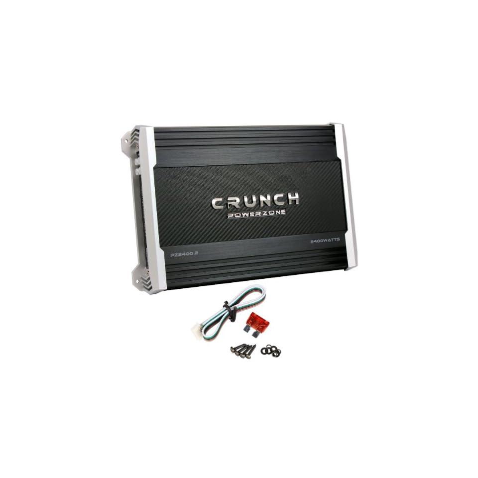 crunch pz2400 2 2,400 watt max 2 channel amplifier powerzone  kicker kx450 2 450 watts, 04kx450 2 kx