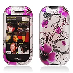 Purple Orchid Flower Sharp Kin 2 II Snap on Cell Phone Case + Microfiber Bag