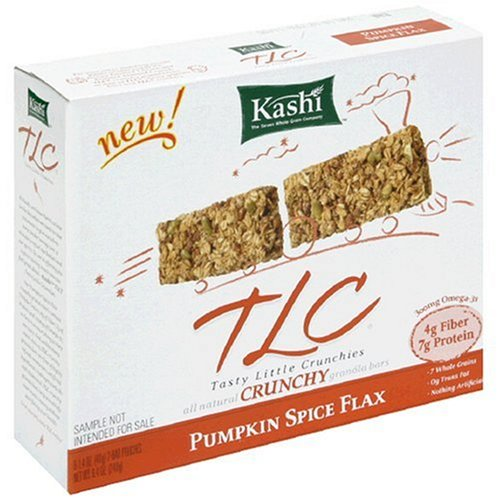 Kashi TLC Crunchy Granola Bar, Pumpkin Spice Flax, 6-2 Bars Pouches, 1.4-Ounces (Pack of 12)
