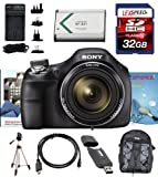 Sony Cyber-Shot DSC-H400 H400 DSCH400/B DSCH400B H400 Digital Camera (Black) + Full Size Tripod, Backpack, 32GB Deluxe Accesory Kit