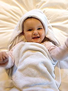 Baby Hooded Bath Towel By Heart Felt. Super Luxurious and Soft 100% Organic Cotton. Incredibly Absorbent for Fast and Easy Drying. The Perfect Baby Gift. Extra Large 36 X 36 Inch so Good for Toddlers Too.