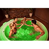 Party In a Tub - 4 LED water Submersible Lights for your Bath Tub, Jacuzzi or Pool - Comes with 2 Remote Controls