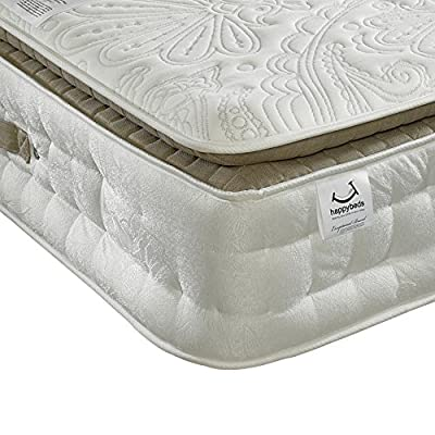 Happy Beds Windsor 3000 Pocket Sprung Pillowtop Memory Wool Orthopaedic Mattress