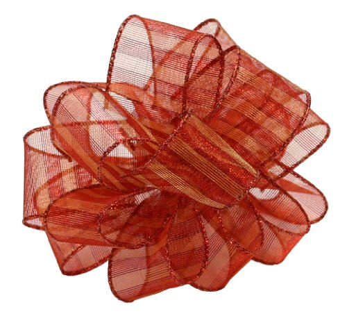 Berwick Wired Edge Formula 5 Craft Ribbon, 1-1/2-Inch Wide By 25-Yard Spool, Red front-75976