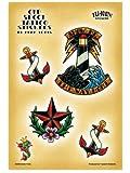 Adam Potts - Nautical Old Skool Tattoos - Pack of 4 Stickers / Decals