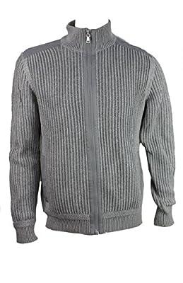 Calvin Klein Mens Full Zip Sweater
