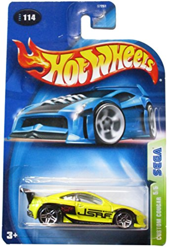 Hot Wheels 2003 114 yellow CUSTOM COUGAR 5/5 SEGA 1:64 Scale Die-cast Collectible Car - 1