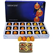 CHOCOLATE GIFT BOX, MODAK , 2 FREE RAKHI ONLINE, HAPPY RAKHI CHOCOLATE, RAKHI WITH CHOCOLATE, MANGO AND ORANGE...