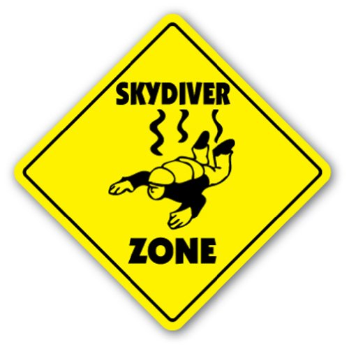 SKYDIVER ZONE Sign xing gift novelty air borne sky diving parachute