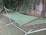 Hangit Polyester Green Rope Outdoor Hammock furniture for Garden (48.00 IN)