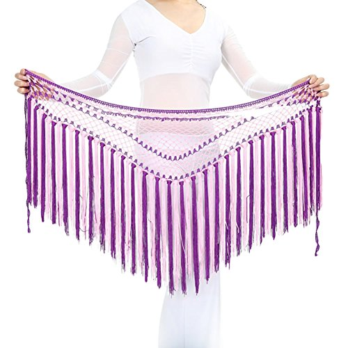 AveryDance Argentina Two-tone Tassel Belly Dance Mermaid Hip Scarf Costume