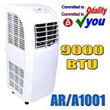 9000 BTU Portable Air Con Conditioner Cooling Fan Rhino H03607 Compact Conditioning