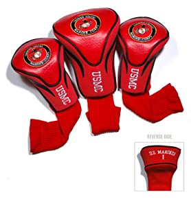 U.S. Marine Corps Contour Fit Headcover Set by Team Golf