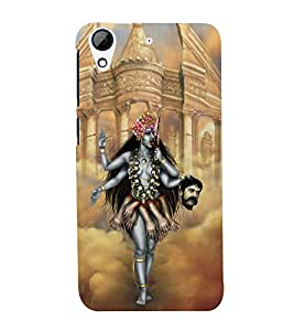 Fuson Premium Back Case Cover Goddess Kali With blue Background Degined For HTC Desire 728g Dual::HTC Desire 728G::HTC Desire 728